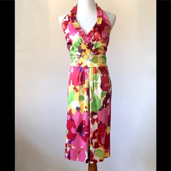 Blu Sage Dresses & Skirts - Blu Sage Floral Halter Dress